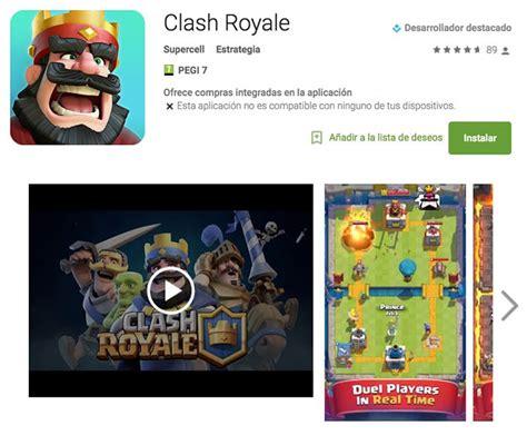 descargar clash royale descargar la primera actualizaci 243 n de clash royale para