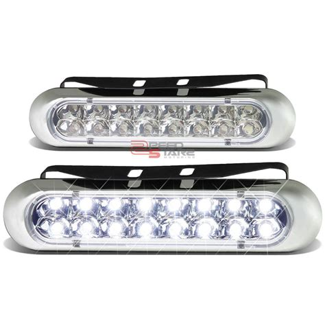 led lights for truck bumpers led light bulbs for trucks universal 6 quot 16 white led drl