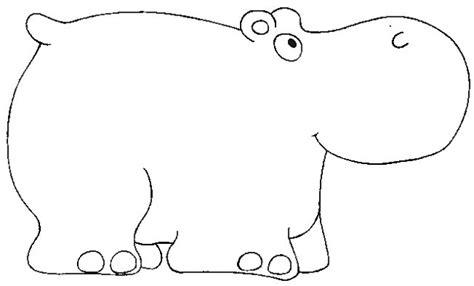 imagenes para colorear hipopotamo pintar hipopotamos