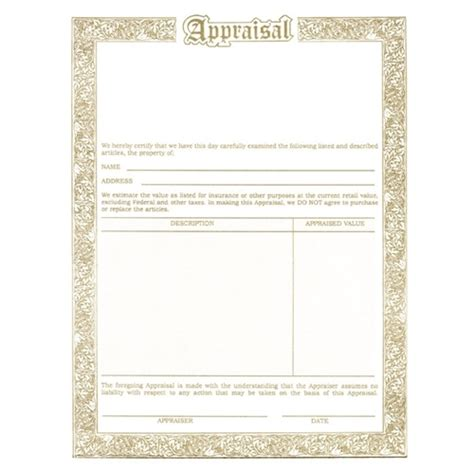jewelry appraisal form template jewellery appraisal form