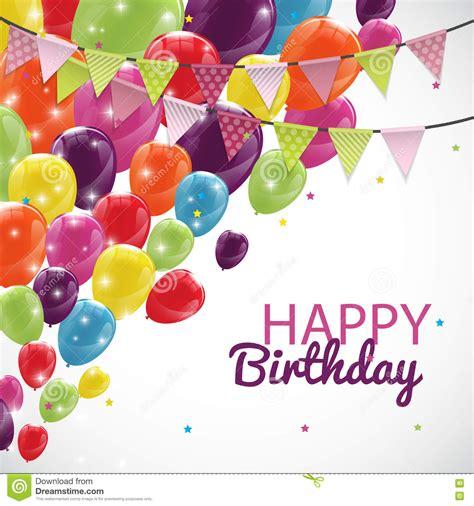 birthday card balloons template happy birthday card template with balloons and flags