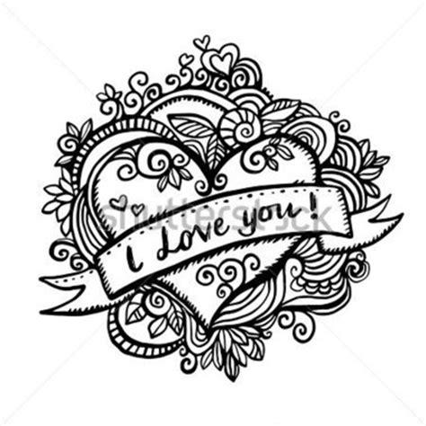 i you doodle carte de voeux valentin avec des abstrait de