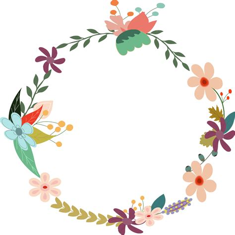 Amazing Big Christmas Wreath #6: Vintage-flower-clipart-png-2.jpg