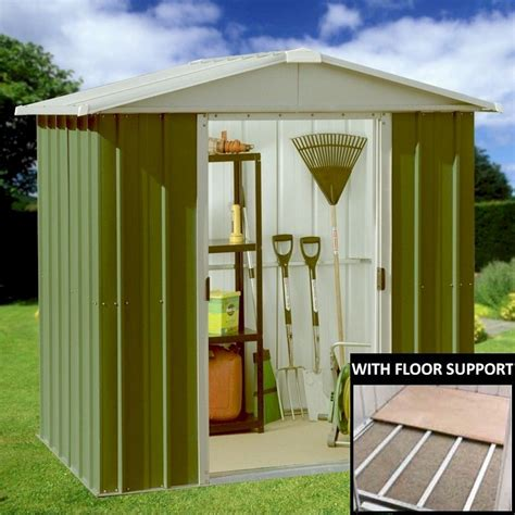 Metal Sheds 6 X 6 by Yardmaster 66geyz Metal Shed 6x6 With Floor Support Kit