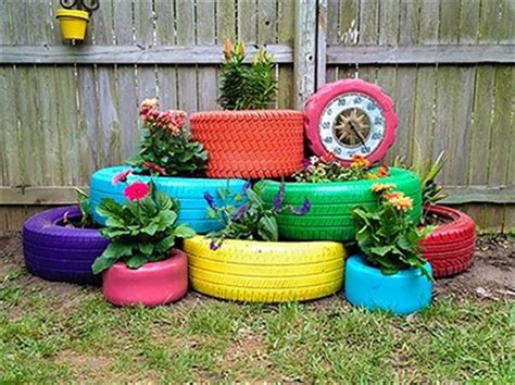 Garden Using Tires 27 Diy Recycled Tire Projects Diy And Crafts