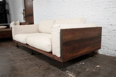 reclaimed wood sofa v44 two cushion reclaimed wood sofa modern sofas los