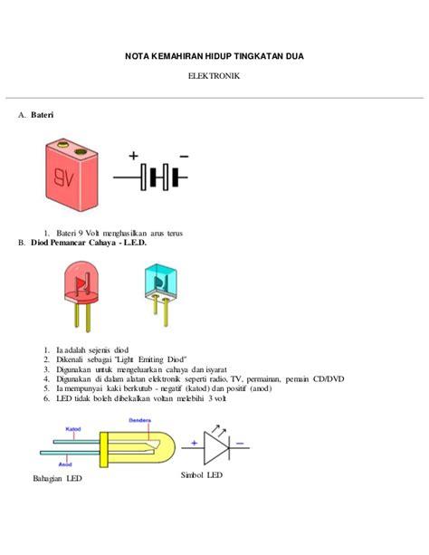 diod pemancar cahaya khb 28 images kemahiran hidup sekolah rendah elektronik tahun 5 diod