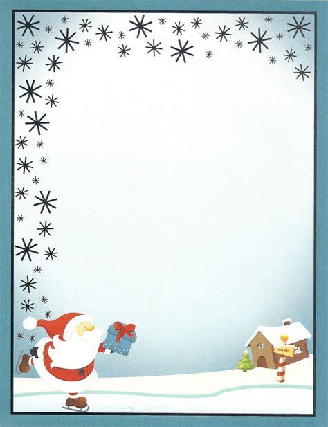 letterhead ice skating santa paper direct doreens