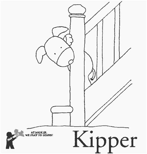 stairs free printable kipper coloring pages