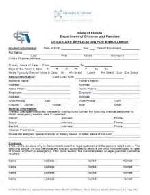 Child Care Enrollment Form Template by Pin Child Enrollment Form On