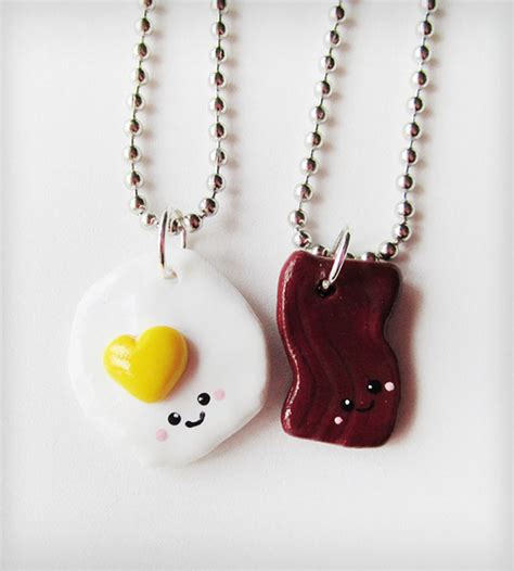 my friend cayla necklace not lighting up bacon and eggs best friends necklace set jewelry