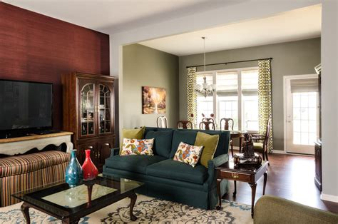 appealing living room blending modern and traditional naperville mixing traditional and modern traditional