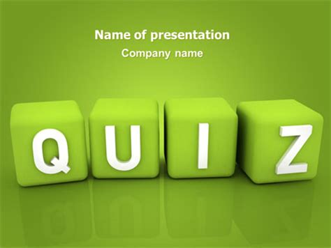 quiz powerpoint template backgrounds 06875