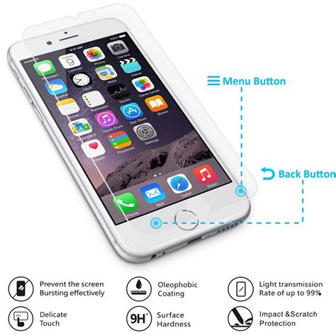 Smart Tempered Glass Protection Screen 03mm For Iphone 1 smart tempered glass protection screen 0 3mm for iphone 6 6s asahi japan material glass