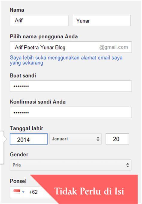 membuat email yahoo tanpa no hp cara membuat email dan daftar gmail tanpa verifikasi no hp