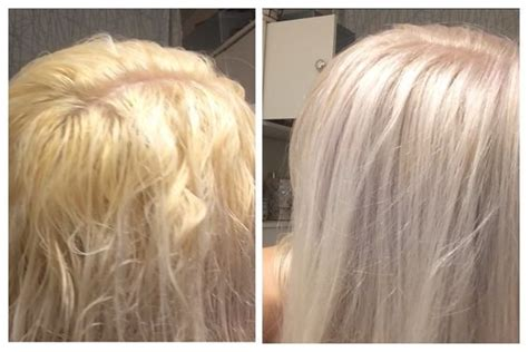 silver blonde color hair toner toning blonde hair from brassy yellow or orange to silvery