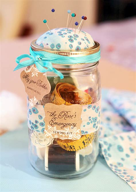 Baby Shower Mason Jars by Diy Mason Jar Sewing Kit Evermine Blog