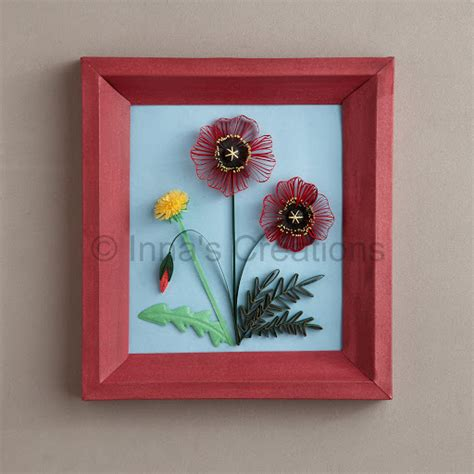 quilling poppy tutorial inna s creations quilled poppies step by step part 1