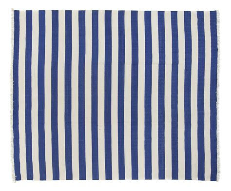striped dhurrie rugs blue white striped dhurrie 8 2 x 9 9 seret and sons