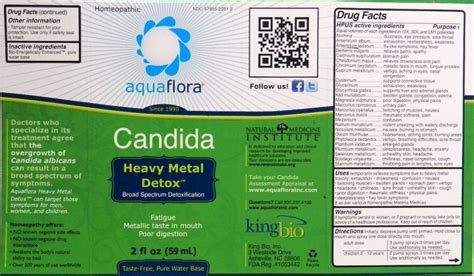 King Bio Heavy Metal Detox by Dailymed Candida Heavy Metal Detox Aquaflora Liquid