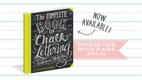 lettering tutorial italiano the complete book of chalk lettering now available