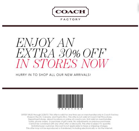 printable coupons for coach outlet coach factory store coupons 2017 2018 best cars reviews