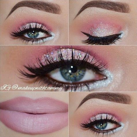 light pink glitter eyeshadow musely