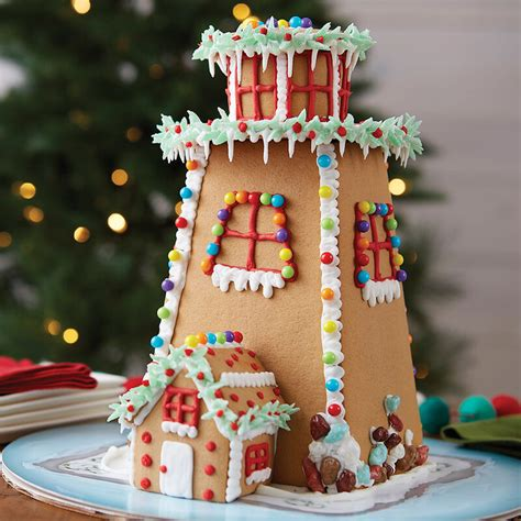 light   gingerbread house  wilton