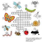 Crossword Answer Garden Pests Crossword Words For Children Stock Photography