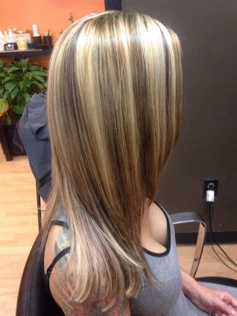 getting lowlioghts and highlights together chunky blonde highlights can t get this from box color