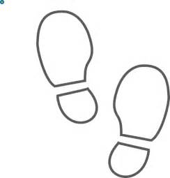 shoe print bw outline clip at clker vector clip