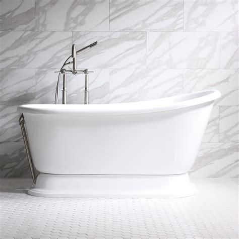 slipper pedestal tub carafa coreacryl acrylic swedish slipper pedestal bathtub