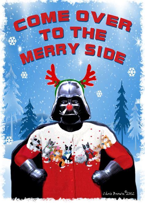 darth loves  cat sweater star wars christmas cards dart vader christmas pack