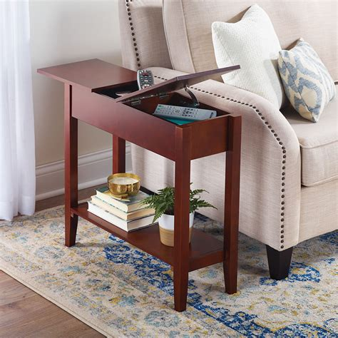 Storage Side Table The Storage Side Table Hammacher Schlemmer