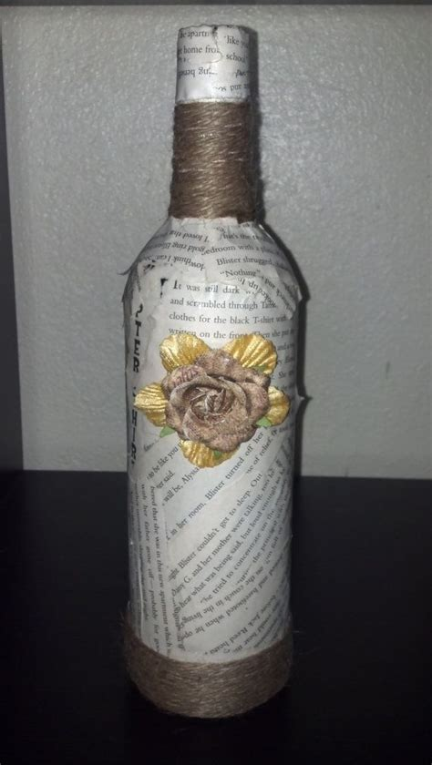 Decoupage Wine Bottles - 17 best images about bottles collage decoupage and glue
