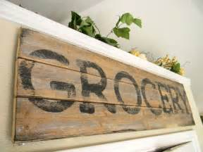 sign wood kitchen wall decor country chic distressed