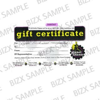 Planet Fitness Gift Card - bizx planet fitness 1 year black card membership