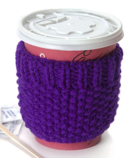 free knitting pattern coffee cup sleeve cup cozy