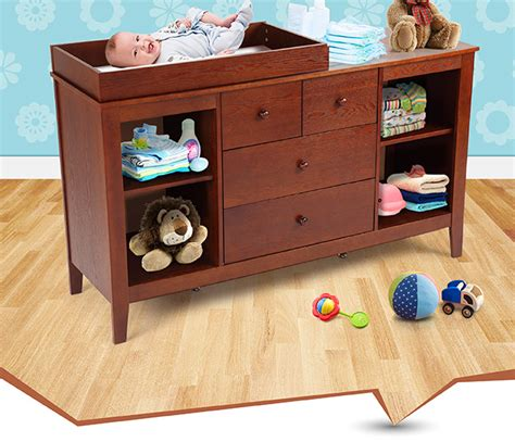 Walnut Baby Changing Table With Four Drawers Crazy Sales Baby Changing Table With Drawers