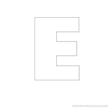 printable large letter a large letter stencils letters free sle letters