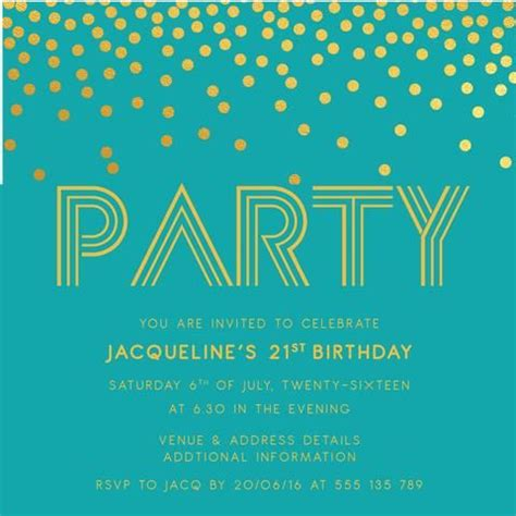 21st Birthday Card Templates Free by 17 Best Images About Birthday Invitations