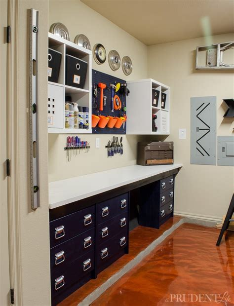 ikea garage organization diy garage workbench ikea hack office pinterest