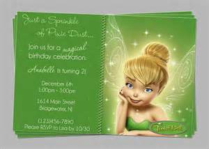 great tinkerbell birthday invitation ideas party xyz