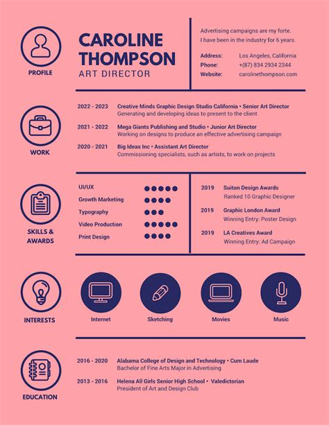 Graphic Resume by Free Resume Builder Design A Custom Resume In Canva