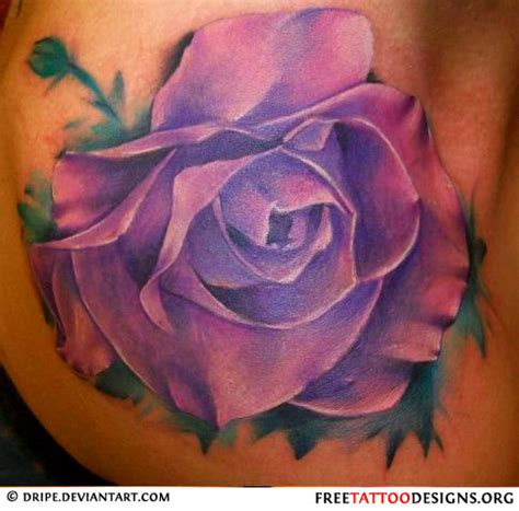 purple tattoo 50 rose tattoos meaning