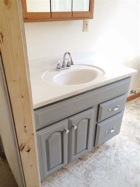 Paint Bathroom Vanity Ideas Painted Bathroom Vanity Michigan House Update