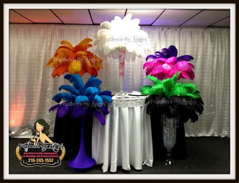 rent ostrich feather centerpieces feathers by rent ostrich feather centerpieces