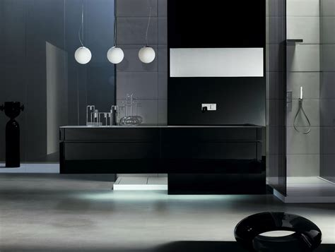 black modern bathroom vanity milldue kubik 57 lacquered black modern italian bathroom