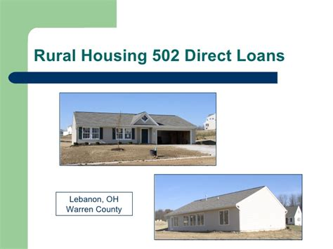 housing loans what is a rural housing loan
