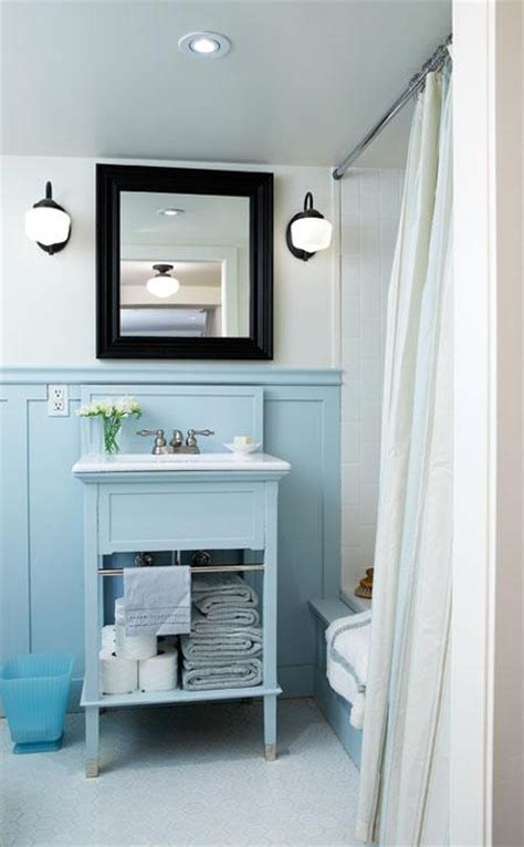 blue bathroom lights 2 vintage light blue bathrooms tudorks